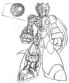 Now I can build my own Zero. Game Character, Character Concept, Character Design, Cry Anime, Anime Art, Mega Man, Super Smash Bros Memes, Megaman Zero, Man Sketch