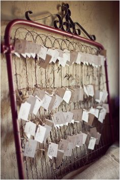 Close up of place cards-notice the little keys?