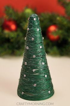 How to Make 3D Christmas Cones using Crochet Thread - Crafty Morning