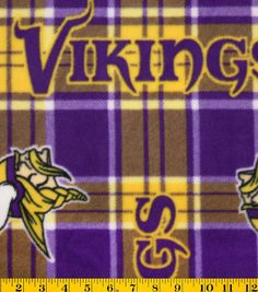 2db5153c0f0 Minnesota Vikings Fleece Fabric 58