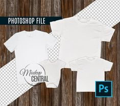 Photoshop Template Matching Family Blank White T-Shirt and Baby Onepiece Mockup, Styled Stock Photography, PSD Mock Up Shirts with Layers Matching Family T Shirts, Picture Templates, Shirt Template, T Shirt Image, Family Set, Wood Background, Halloween Kids, Up Shirt, Mockup