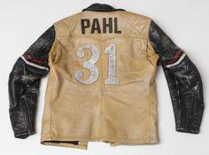 Vintage Bates Leather Jacket Flat Track back