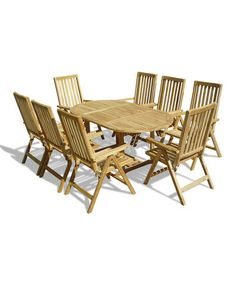Take A Look At This Nine Piece Teak Outdoor Dining Set By Lookboard On #