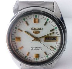 100% GENUINE RARE VINTAGE GENT'S SEIKO 5 AUTOMATIC 21 JEWELS JAPAN  WRIST WATCH #SEIKO5 #LuxuryDressStyles