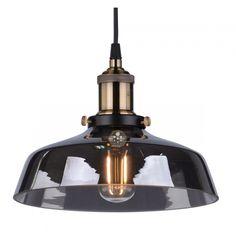 Lámpara de techo transparente vidrio negro zina