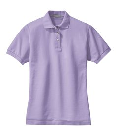 Port Authority Womens Cotton Pique Knit Short Sleeve Polo Shirt L420