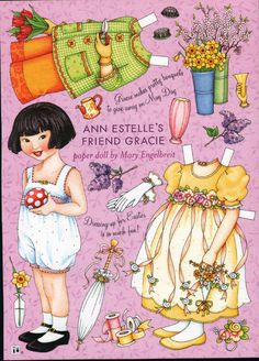 ANN ESTELLE'S FRIEND GRACIE by Mary Engelbreit MAY DAY and EASTER CARD