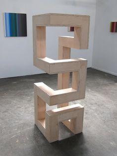 Sculpture by Dan Good Geometric Sculpture, Abstract Sculpture, Wood Sculpture, Geometric Art, Sculptures, Wooden Art, Wood Wall Art, Diy Wood Projects, Wood Crafts