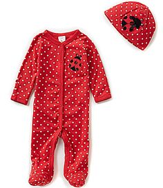 Starting Out Baby Girls Newborn6 Months Ladybug Footed Coverall and Hat Set #Dillards
