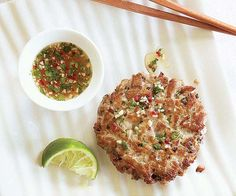 Fresh Tuna Burgers with Ginger & Cilantro recipe...used jalapeno and red pepper with this ... was good even before cooking :)