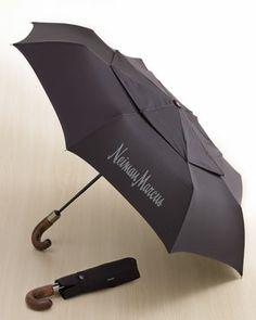 WindPro Curved-Handle Umbrella at Neiman Marcus.
