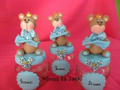 Lembrancinhas de biscuit urso rei