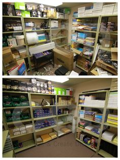 We've all been to the office supply closet that is screaming for an organization. We've all been to the office supply closet that is screaming for an organizational overhaul. Storage Room Organization, Office Organization At Work, Office Supply Organization, Office Storage, Closet Storage, Organizing Office Supplies, Office Hacks, Stationary Organization, Ideas