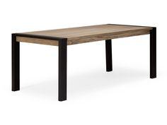 Table Manger CROXLEY 200x90 En Bois Mindi Naturel