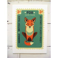Large Fox Stamp
