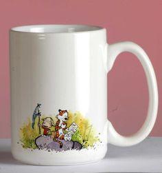 Calvin and Hobbes Mug 11oz Two Sides Coffee Tea Cup Home Office Mugs #MugDesign