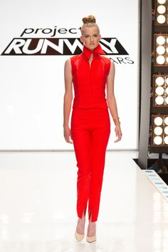 Check out this retro look. Tune into Lifetime, Thursdays to see what all the designers have to offer. Brother Usa, Project Runway, Retro Look, Designers, Jumpsuit, Check, Dresses, Fashion, Overalls