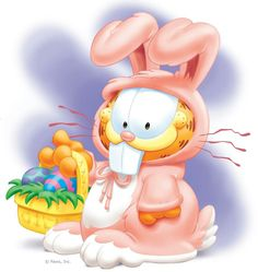 Garfield at Easter