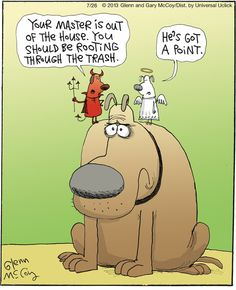 Tough decision! | The Flying McCoys on GoComics.com #humor #comics #dogs