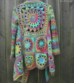Fabulous Crochet a Little Black Crochet Dress Ideas. Georgeous Crochet a Little Black Crochet Dress Ideas. Gilet Crochet, Crochet Coat, Crochet Jacket, Crochet Beanie, Crochet Shawl, Crochet Clothes, Crochet Blouse, Crochet Dresses, Hippie Crochet