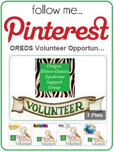 Do you want to help OREDS spread the word about EDS? Great! Just click here for OREDS Volunteer Opportunities - EDS / Ehlers-Danlos Syndrome.