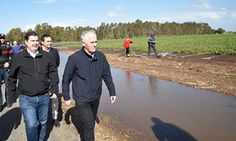 Prime Minister Malcolm Turnbull visits flooded areas in South Australia following a severe storm