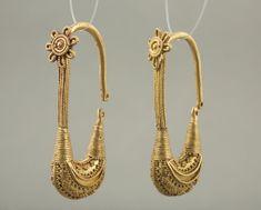 Pair of Boat shaped Earrings   Vani, Western Georgia, ca. 400 B.C.   Gold