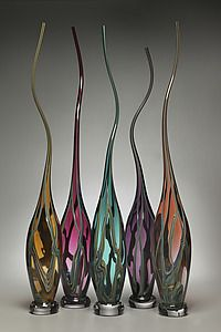 Curvasi Series: by Victor Chiarizia: Art Glass Sculpture - Avail from Artful Home $874.00 [42inH x 6inD approx.] <3<3<3 @