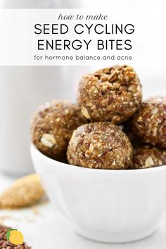 flaxseed meal recipes Seed Cycling Energy Bites 2 Green WW Points/Ball Make with SF Syrup, Flaxseed Meal, Afterburn Protein Powder. Vegan Healthy Snacks, Healthy Recipes, Stay Healthy, Meal Recipes, Healthy Sweets, Healthy Eating, Best Nutrition Food, Health And Nutrition, Nutrition Guide