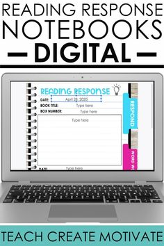 Reading Response Notebook, Reading Response Activities, Social Emotional Activities, Reading Notebooks, Interactive Notebooks, Meet The Teacher, Flipped Classroom, Classroom Setup, Google Classroom