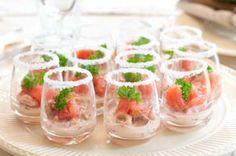 Landleven - Amuse met garnalen en grapefruit