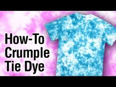 Tulip Tie-Dye Crumple Technique How To