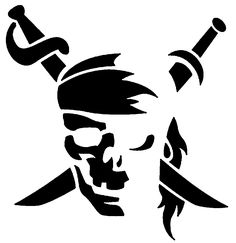 Pirate Skull Vinyl Car Pirate and Swords Decal, Laptop Decal, Car Window Sticker, Boat Pirate Skull Pumpkin Carving Pattern – Pirates of the Caribbean Logo Pirate Pumpkin, Skull Pumpkin, Pumpkin Stencil, Stencils, Stencil Art, Skull Stencil, Tattoo Templates, Pumpkin Carving Patterns, Skull Art