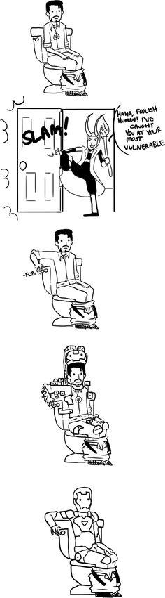 Iron man's toilet