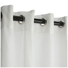 Sunbrella Snow Sheer Outdoor Curtain Panel w/ Grommets Available in 4 length options