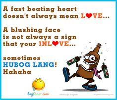 by Boy Banat Tagalog Quotes Patama, Pinoy Quotes, Bisaya Quotes, Life Quotes, Qoutes, Sms Jokes, Funny Jokes, Beautiful Words, Blushing Face
