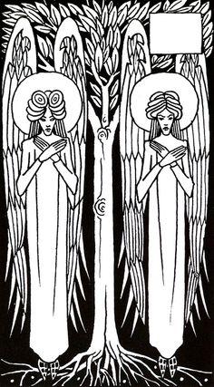Aubrey Beardsley from Morte D'Arthur Art Nouveau, Angel Illustration, Japanese Woodcut, Aubrey Beardsley, Design Graphique, Wallpaper Pictures, Star Wars Art, Star Trek, Illustrators