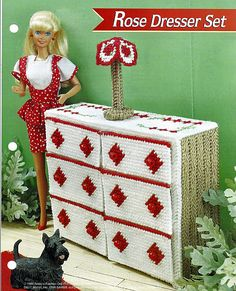 Barbie Doll Furniture Plastic Canvas Pattern by grammysyarngarden