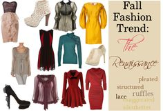 """""""Fall Fashion Trend: The Renaissance"""" by ltretail on Polyvore"""