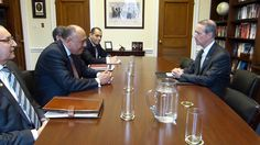 Egyptian Foreign Minister Meets Chairman of the Intelligence Committee of the US Senates