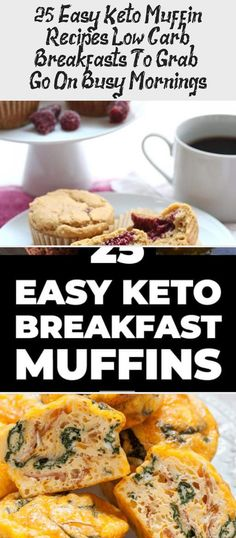 25 Easy Keto Muffin Recipes: Low Carb Breakfasts To Grab & Go On Busy Mornings Keto Breakfast Muffins, Low Carb Breakfast Easy, Ketogenic Breakfast, Breakfast For Dinner, Breakfast Recipes, Egg Muffins, Ketogenic Diet, Keto Muffin Recipe, Muffin Recipes