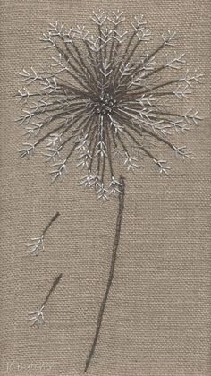 Jo Butcher, Embroidery Artist - Gallery - Category: Seedheads S.M companies are now cropping upwards Embroidery Stitches Tutorial, Embroidery Flowers Pattern, Creative Embroidery, Simple Embroidery, Japanese Embroidery, Hand Embroidery Stitches, Silk Ribbon Embroidery, Crewel Embroidery, Embroidery Hoop Art