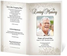 alexandria printable funeral program template dad pinterest