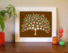 An interesting way to display your family tree - my mom would love this, she's into genealogy. (Family Tree by My Tree & Me.)