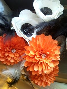 Anemones and dhalia paper flowers
