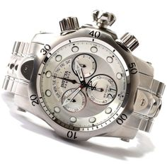 By Popular Demand, Invicta 1537 is back at an incredible sale price!  Invicta Reserve Venom Silver Dial Interchangeable Strap Watch with Red Diver's Case