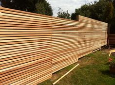 horizontal wood slat. cedar. modern. skinny.