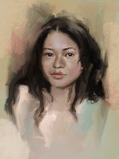 Art Print by Anna Tomka - X-Small Framed Prints, Canvas Prints, Art Prints, Digital Portrait, Tag Art, Art Boards, Digital Illustration, Mona Lisa, Vibrant Colors