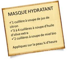 Masque hydratant maison au citron, huile d'olive et miel - Masque hydratant maison au citron, huile d'olive et miel - Daily Beauty Tips, Make Beauty, Beauty Tips For Skin, Natural Beauty Tips, Skin Tips, Beauty Care, Skin Care Tips, Beauty Hacks Every Girl Should Know, Homemade Beauty Tips