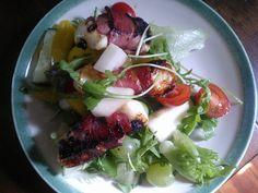 Leipäjuusto-pekonisalaatti About Me Blog, Chicken, Meat, Recipes, Pictures, Food, Photos, Essen, Eten